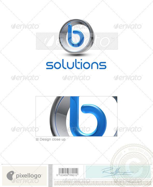 B Logo - 3D-288-B - Letters Logo Templates