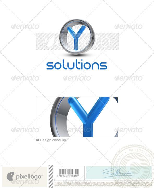 Y Logo - 3D-288-Y - Letters Logo Templates