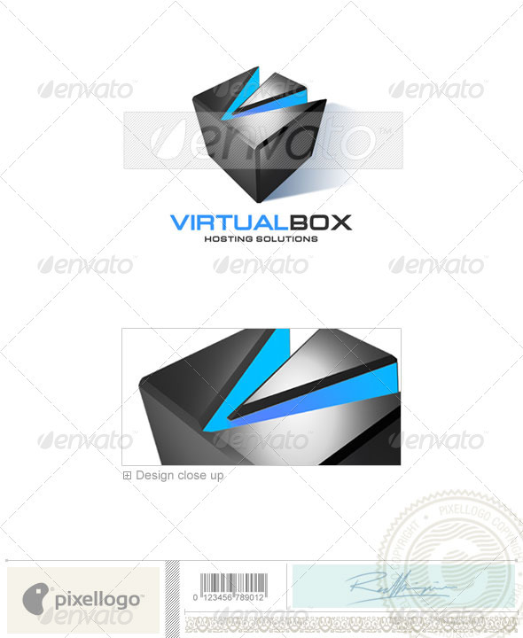 Technology Logo - 3D-117 - 3d Abstract