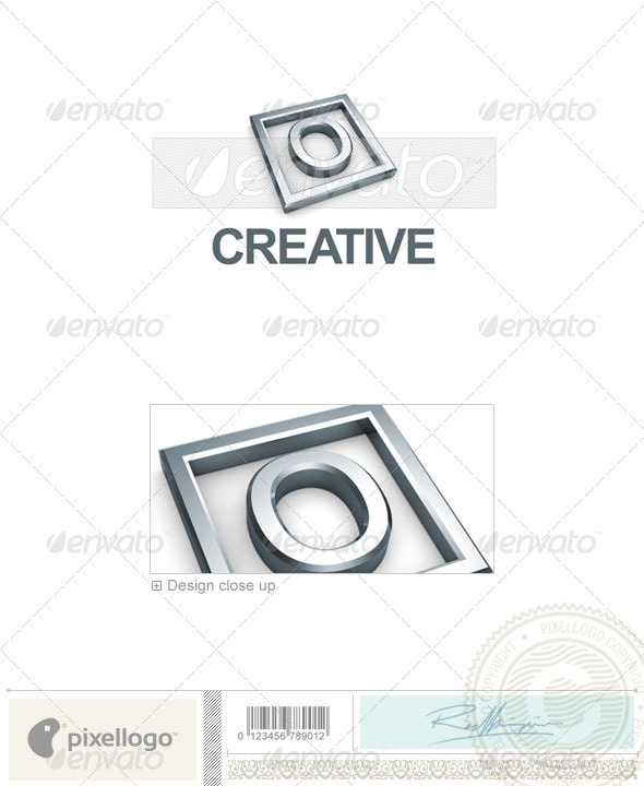 O Logo - 3D-295-O - Letters Logo Templates