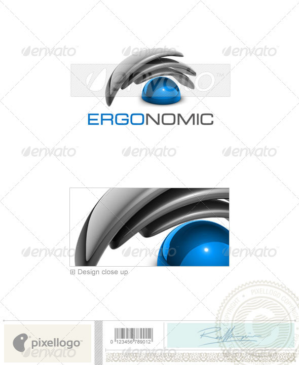 Technology Logo - 3D-414 - 3d Abstract