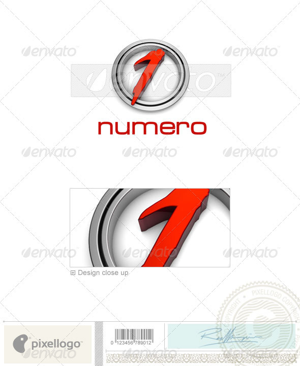Numbers Logo - 3D-2 - Numbers Logo Templates