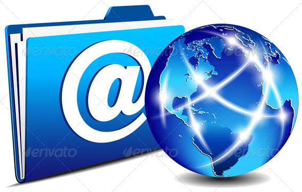 Email Folder and Communication Internet World  - Technology Conceptual