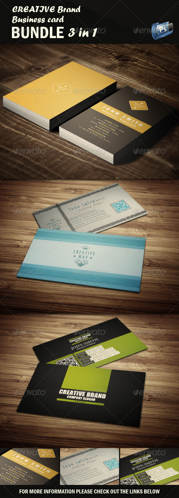 Creative Business Card - Bundle 3 in 1 - Creative Business Cards