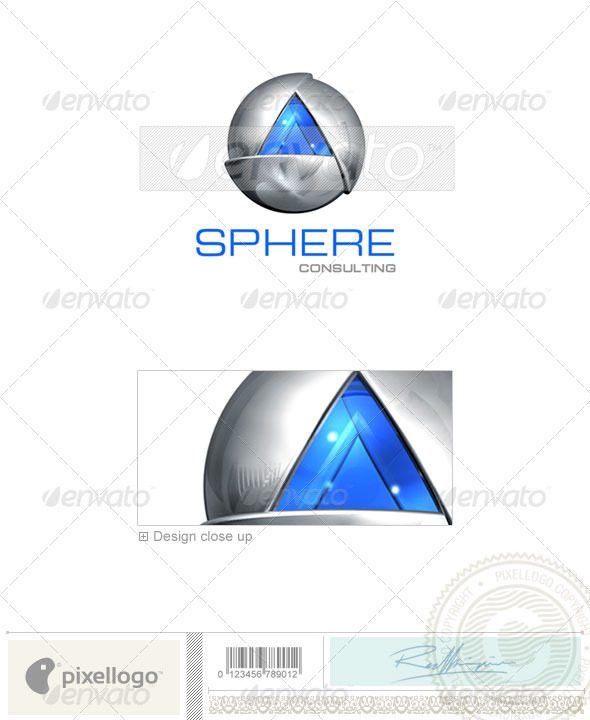 Communications Logo - 3D-144 - 3d Abstract