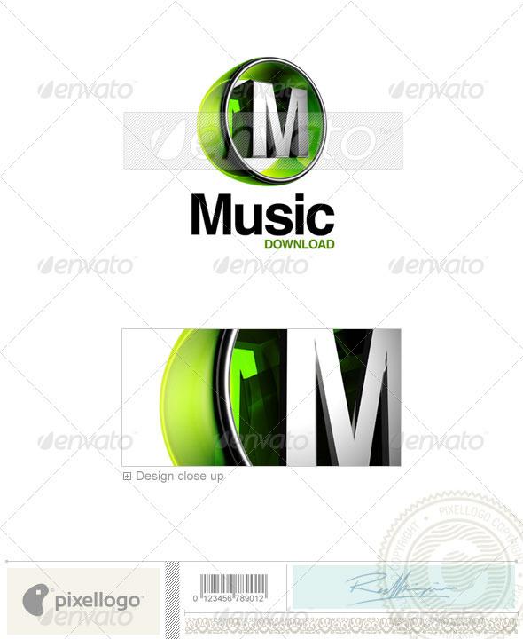 M Logo - 3D-438-M - Letters Logo Templates