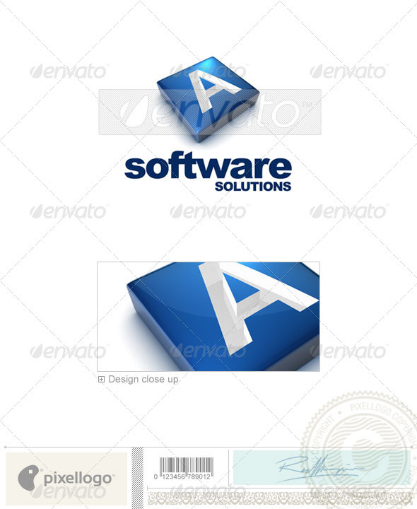 A Logo - 3D-644-A - Letters Logo Templates