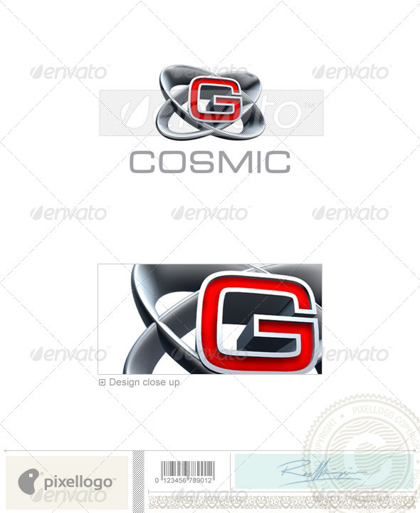 G Logo - 3D-348-G - Letters Logo Templates