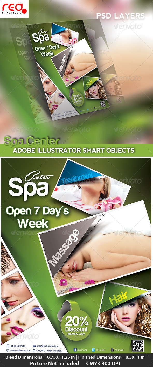 Beauty Salon Poster/flyer & Magzine Cover Template - Commerce Flyers