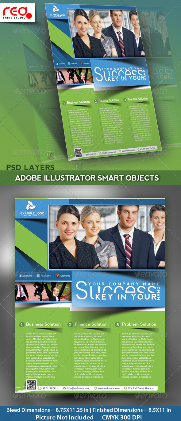 Business Flyer, Poster & Magzine Cover Template - Corporate Flyers