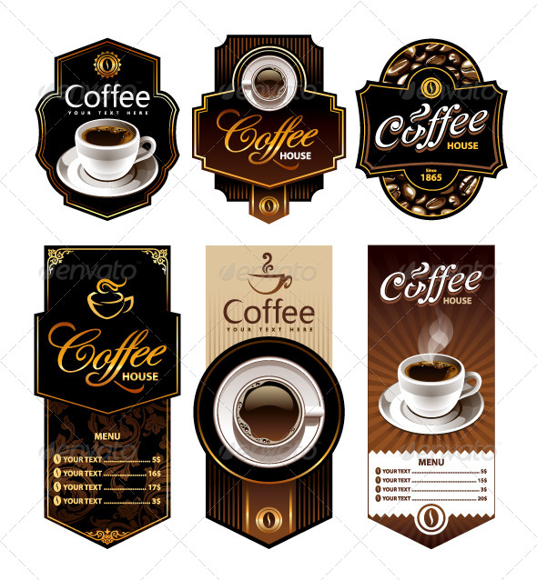 Coffee Design Banners - Food Objects