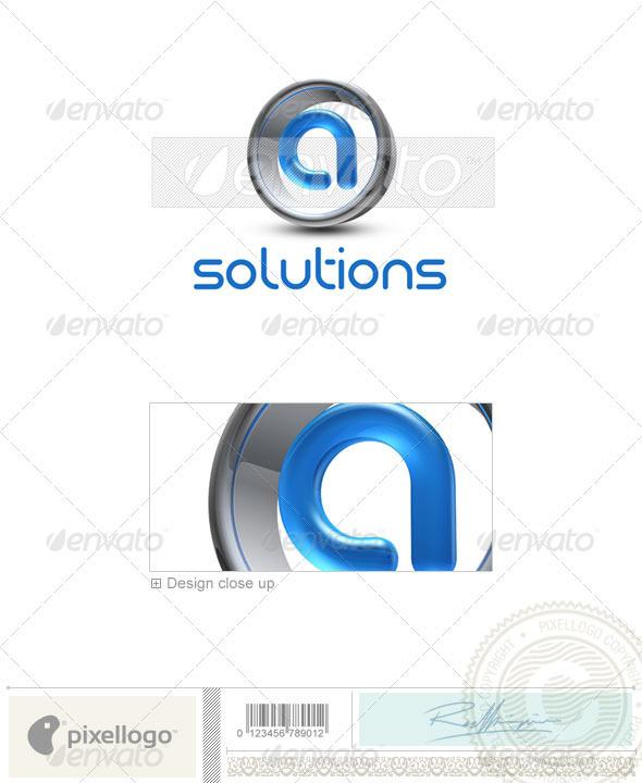 A Logo - 3D-288-A - Letters Logo Templates