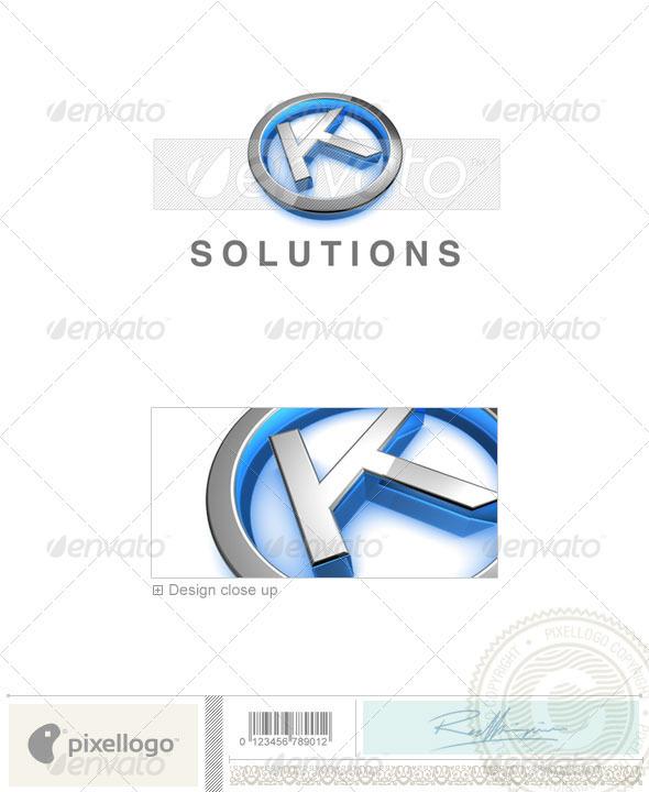 K Logo - 3D-683-K - Letters Logo Templates