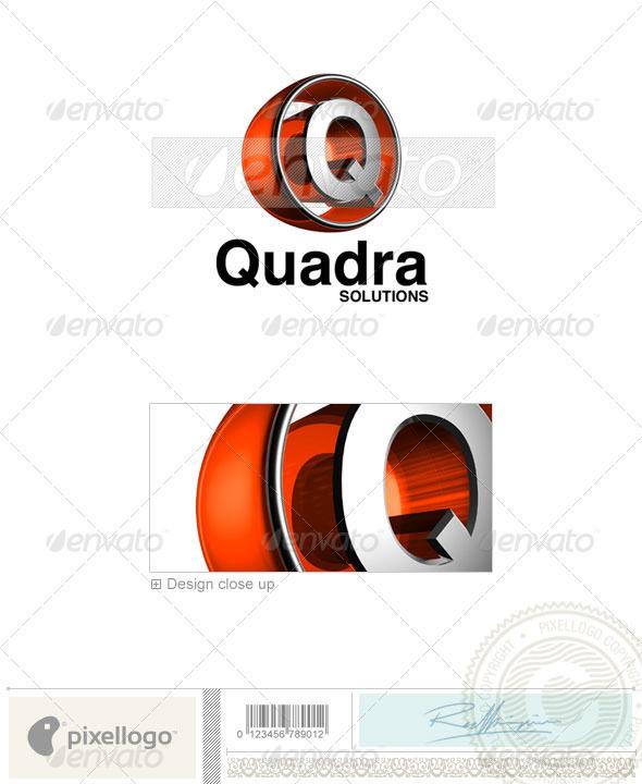 Q Logo - 3D-438-Q - Letters Logo Templates