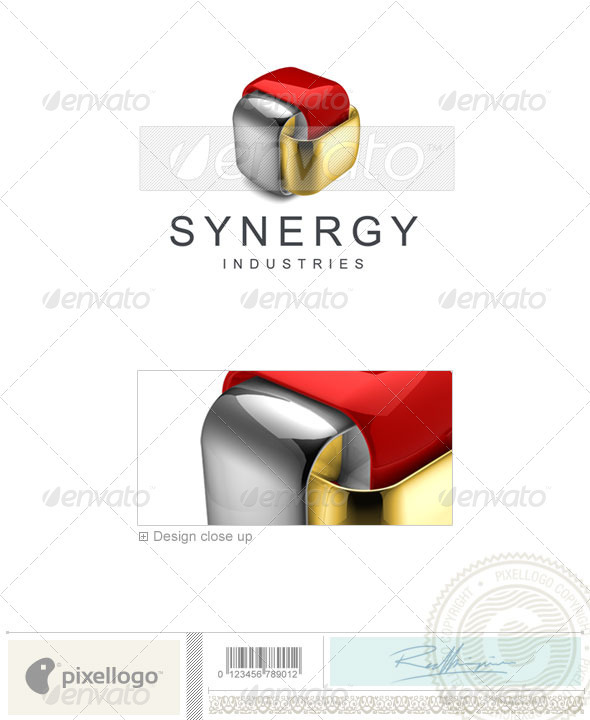 Technology Logo - 3D-374 - 3d Abstract