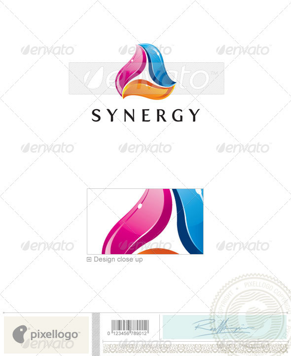 Print & Design Logo - 2153 - Vector Abstract