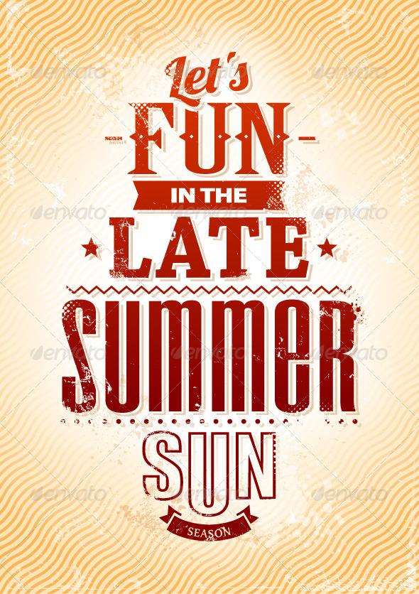 Summer Typography - Vectors