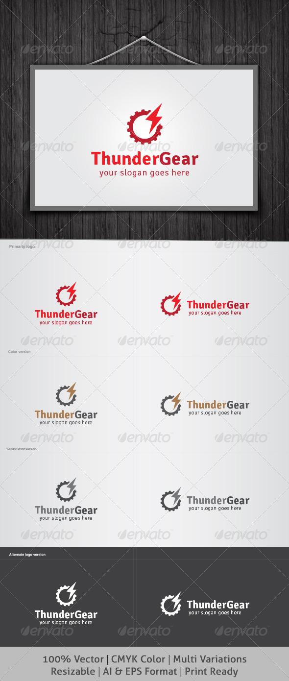 Thunder Gear Logo - Objects Logo Templates