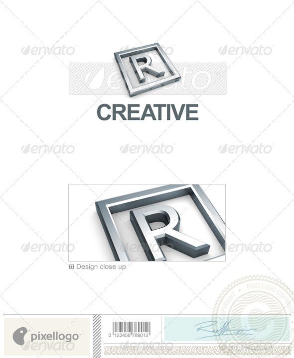 R Logo - 3D-295-R - Letters Logo Templates
