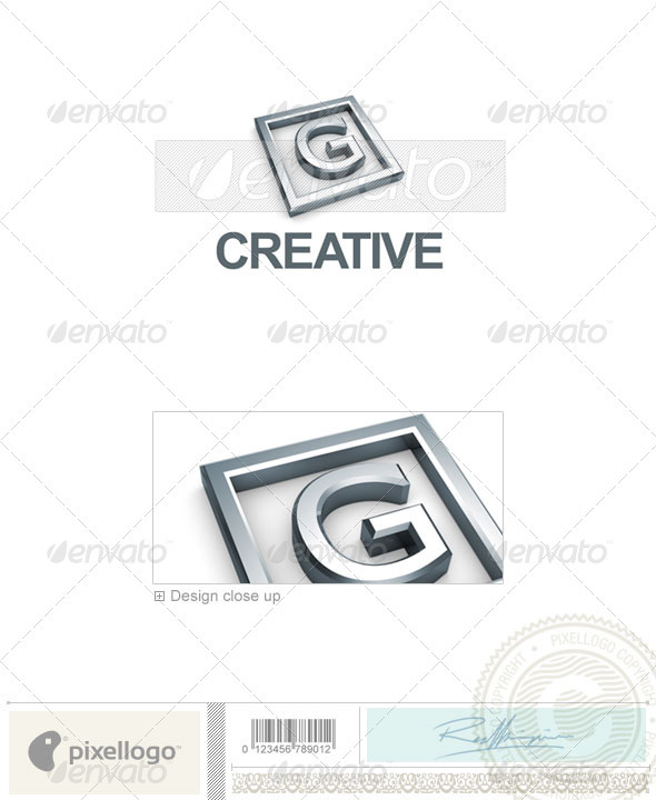 G Logo - 3D-295-G - Letters Logo Templates