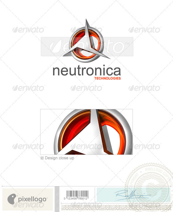 Technology Logo - 3D-349 - 3d Abstract