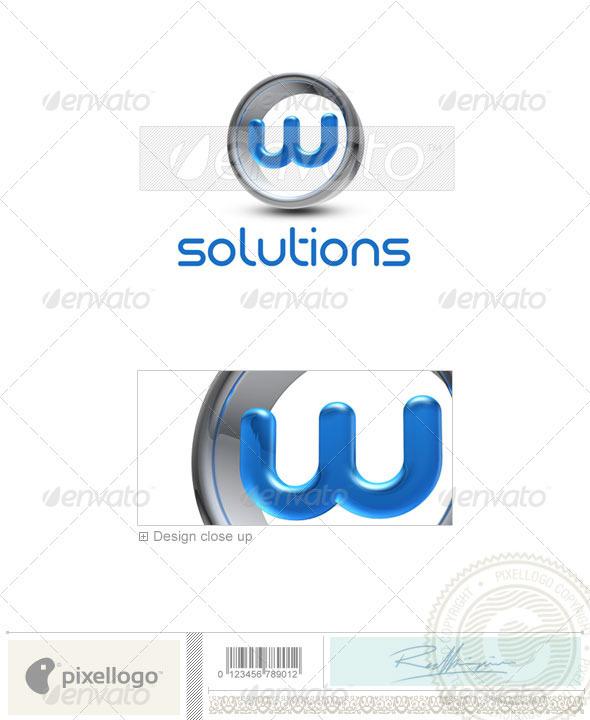 W Logo - 3D-288-W - Letters Logo Templates