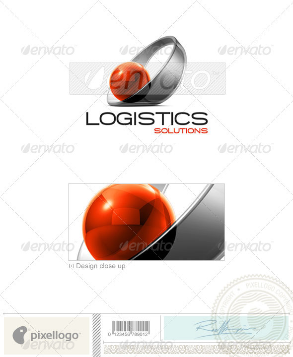 Communications Logo - 3D-410 - 3d Abstract