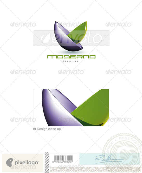 Print & Design Logo - 3D-89 - 3d Abstract