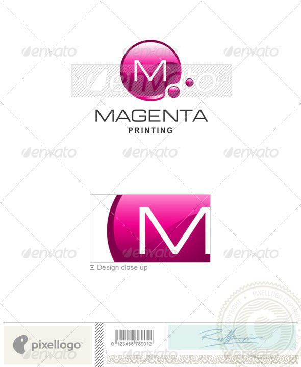 Print & Design Logo - 1940 - Vector Abstract