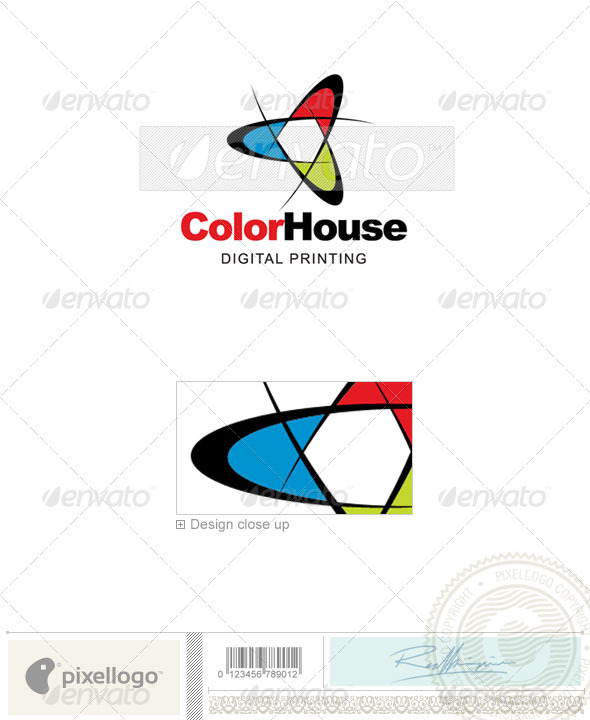 Print & Design Logo - 174 - Vector Abstract