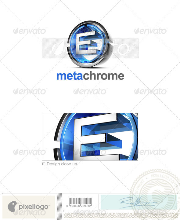 E Logo - 3D-476-E - Letters Logo Templates