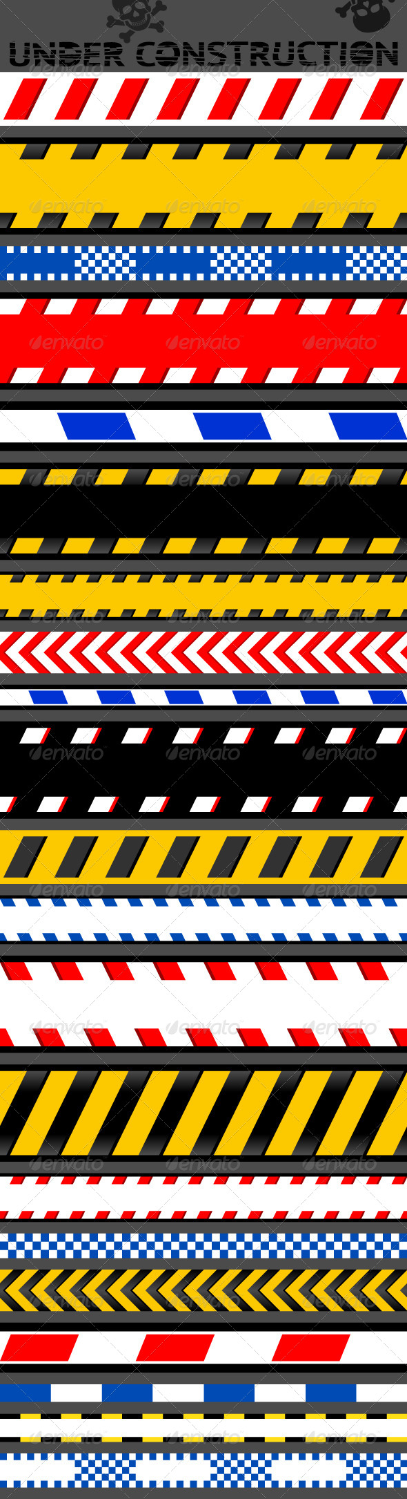 21 Caution Tapes - Backgrounds Decorative