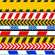 21 Caution Tapes - GraphicRiver Item for Sale