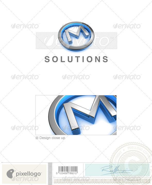 M Logo - 3D-683-M - Letters Logo Templates