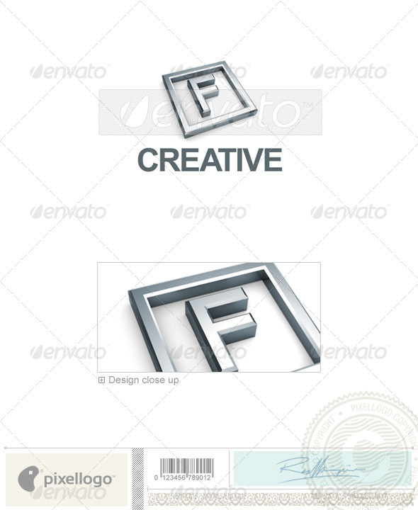 F Logo - 3D-295-F - Letters Logo Templates