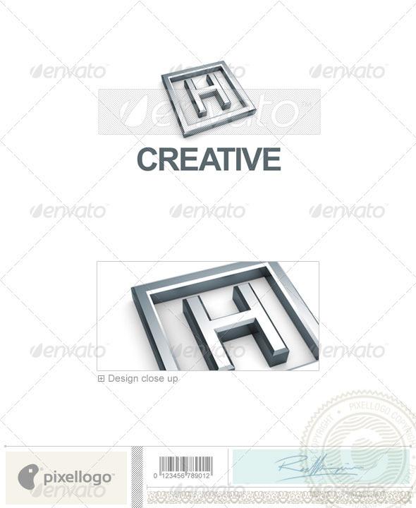 H Logo - 3D-295-H - Letters Logo Templates