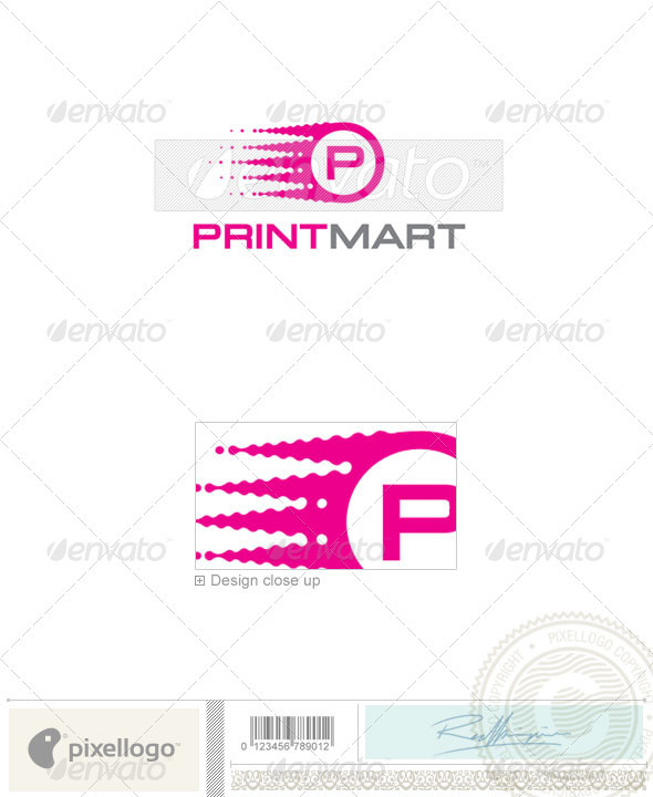 Print & Design Logo - 1786 - Vector Abstract
