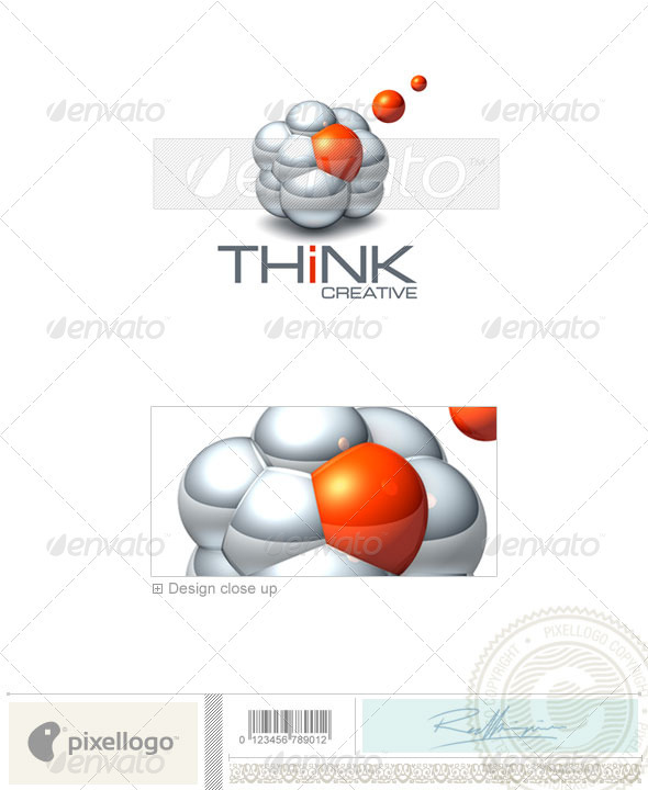 Technology Logo - 3D-430 - 3d Abstract