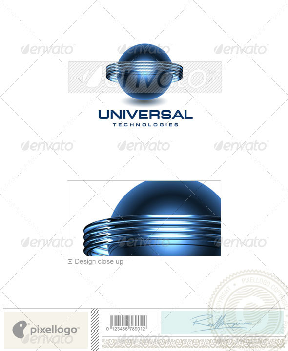 Communications Logo - 3D-130 - 3d Abstract