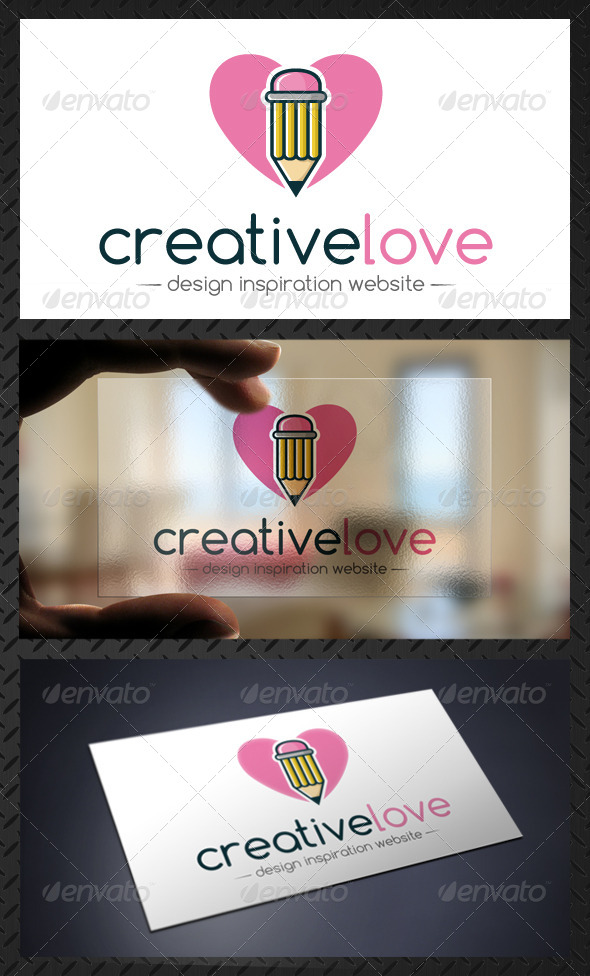 Creative Design Love Pencil Logo Template - Objects Logo Templates