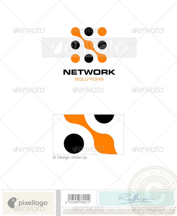 Communications Logo - 289 - Vector Abstract