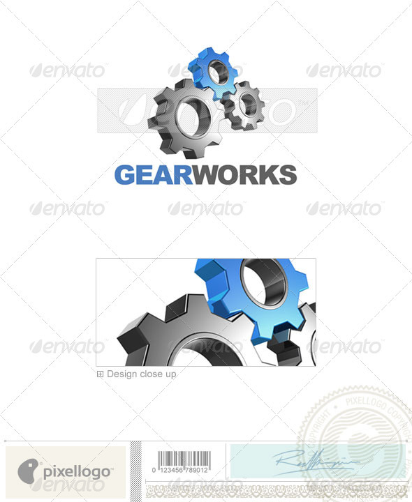 Industry & Science Logo - 3D-454 - 3d Abstract