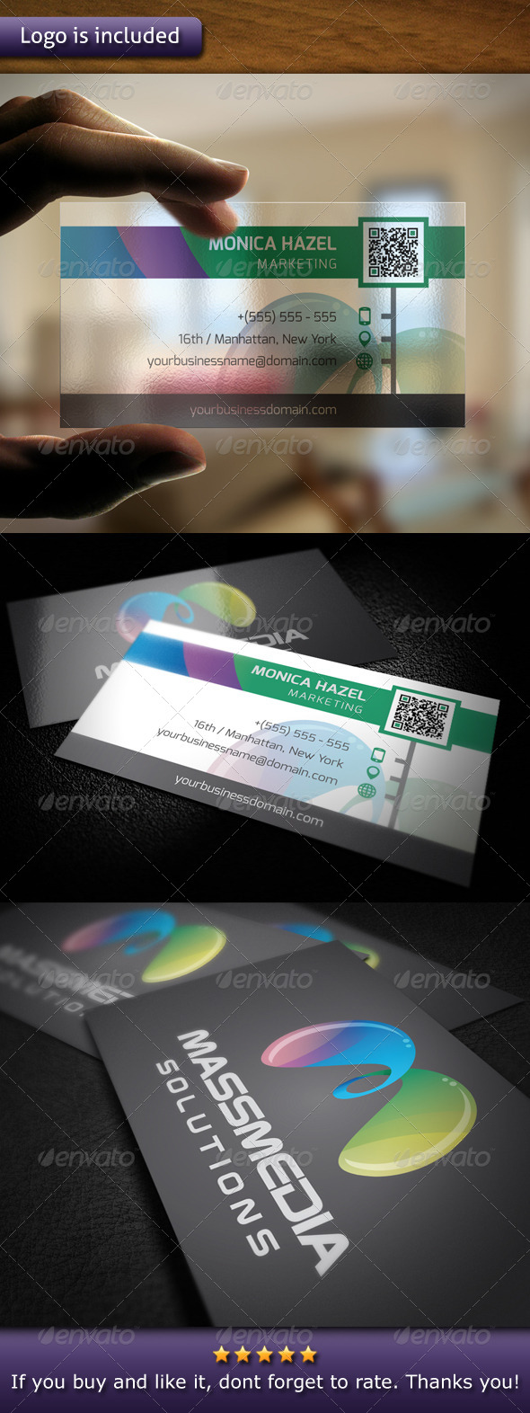 Modern Marketing Logo Business Card - Creative Business Cards