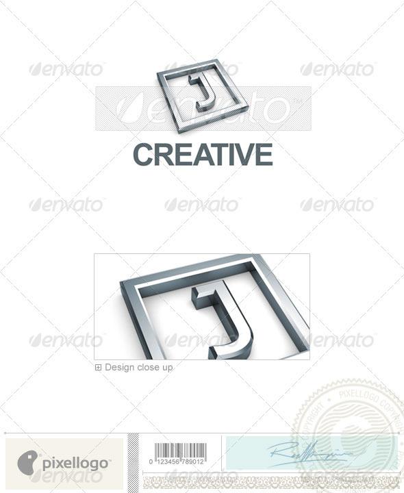 J Logo - 3D-295-J - Letters Logo Templates