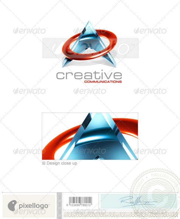 Communications Logo - 3D-127 - 3d Abstract