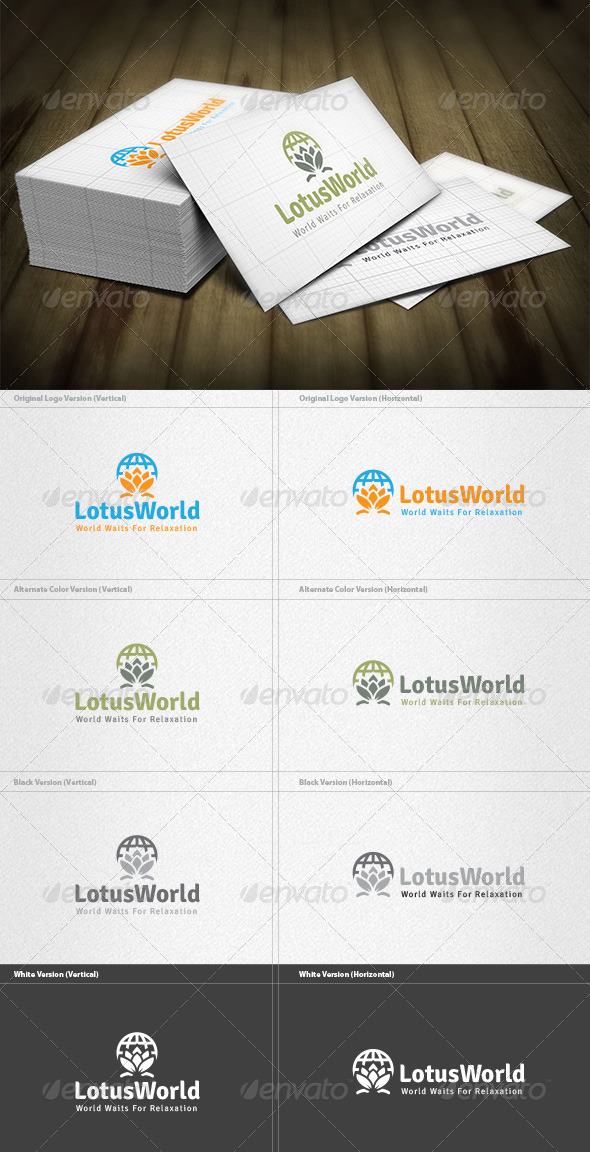 Lotus World Logo - Symbols Logo Templates