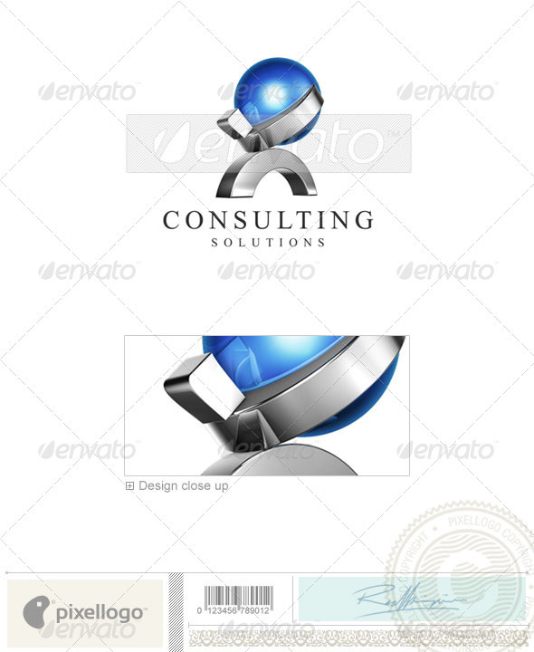 Business & Finance Logo - 3D-475 - 3d Abstract