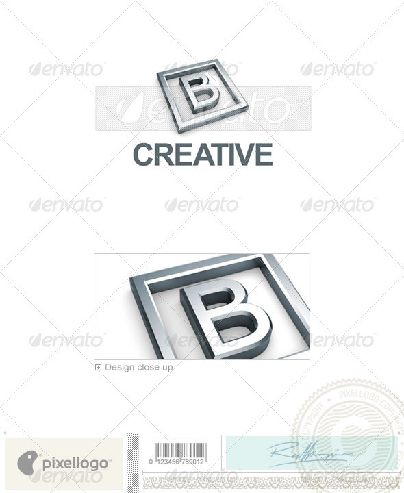 B Logo - 3D-295-B - Letters Logo Templates