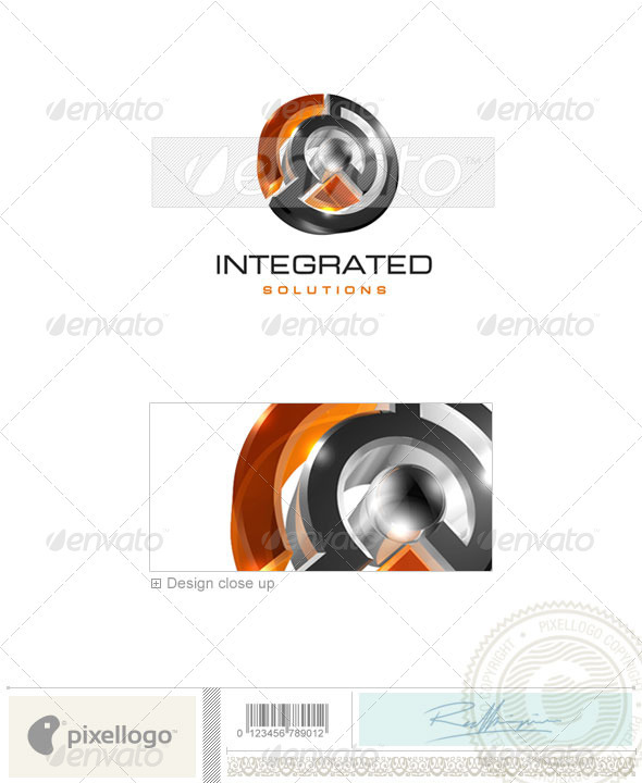 Technology Logo - 3D-70 - 3d Abstract