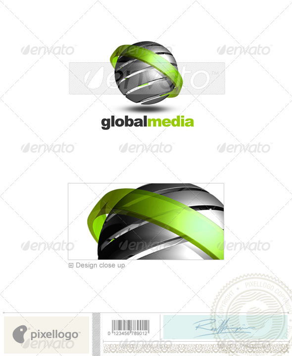 Communications Logo - 3D-156 - 3d Abstract